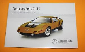 Mercedes C 111 English Brochure Depliant Catalog Prospekt Folder Prospetto