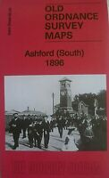 Old Ordnance Survey Detailed Maps Ashford South Kent 1896 Godfrey Edition New