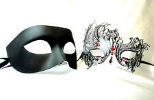 Black Swan Couple Masquerade Mask pair Costume School Birthday Wedding Party