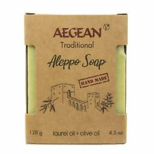 Aegean Traditional Olive Oil Soap 4.5 oz Vegan %100 Natural Aleppo Ideal Gift