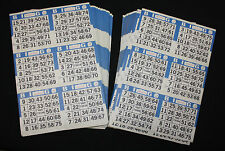 BINGO PAPER Cards Kit  6 on 8 up Blue rotation 100 packs FREE PRIORITY SHIP