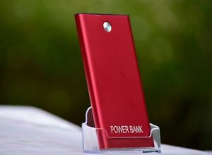 Portable 10000mAh Power Bank 2 USB External Battery Charger For iPhone Red