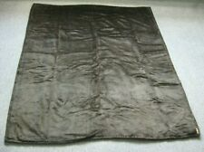 Antique Horse Hair Wool Carriage Buggy Sleigh Blanket Robe Brown
