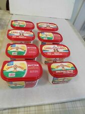 8 Land O Lakes Empty Plastic Butter Tubs Good For Crafting Supply Storage