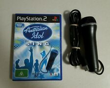PS2 AUSTRALIAN IDOL S.I.N.G SING GAME & LOGITECH USB MICROPHONE PAL