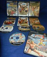 PS2;Cabela's Alaskan Adv, Legendary Adv, Trophy Bucks, w/Mans,Fire Pro Wrestling