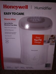Honeywell Easy Care Warm Mist Humidifier vaporizer white top fill essential oil