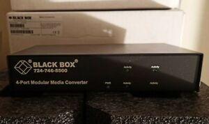 New!! Black Box LE7404A Modular Media Converter - Modular Expansion Base