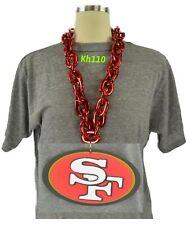NFL San Francisco 49ers 3D Fan Chain Necklace Foam Magnet (Red Chain)