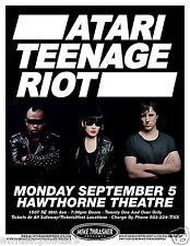 ATARI TEENAGE RIOT 2012 PORTLAND CONCERT TOUR POSTER - Hardcore Digital & Techno