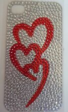 Diamonte Love Hearts Design Sticker for Apple iPhone 4/4G/4S Smart Phone Decal