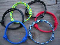 Unisex Adjustable Hand Crafted Paracord Athletic Bracelet Anklet Pick Color