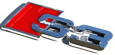 3D AUDI S3 CHROME BADGE DECAL EMBLEM SELF-ADHESIVE