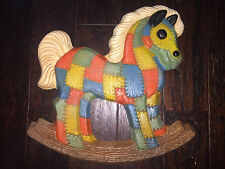 Vintage Wall Decor, Patches/Patched Rocking Horse