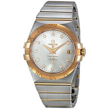 Omega Constellation Chronometer 35 mm Silver Dial Two Tone Watch