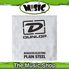 2 x Dunlop Single Plain Steel Acoustic & Electric Guitar Strings - .014 Gauge