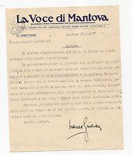 """O601-FASCISMO-MANTOVA-LAURO GIULIANI DIRETTORE """"LA VOCE DI MANTOVA"""""""