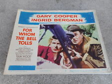 1957 MOVIE LOBBY CARD #4-2178 FOR WHOM THE BELL TOLLS - GARY COOPER