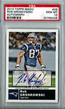 2010 PSA 10 Rob Gronkowski Topps Magic Rare Short Print Rookie Auto only 1 Gronk