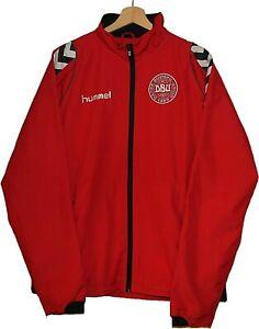 DENMARK Football Jacket Track suit HUMMEL size L Tricot SHIRT Jersey