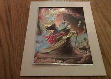 1988 Scafa-Tornabene Art Framed Print 3-d shimmery image Wizard Holding Sphere