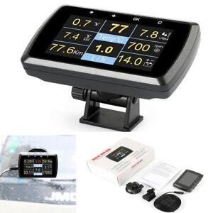 Car OBD OBD2 Gauge w/ Holder Driving Speed Meter Fuel Water Temp Digital Display