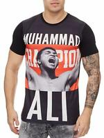 Herren T-Shirt Muhammad Ali T-Shirt Schwarz Slim Fit Box Champion John Kayna