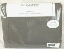 KING Flannel Sheet Set Taupe THE BEST Dormisette 100% Thick German Cotton Brown