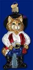 """""""Puss N Boots"""" (12375) Old World Christmas Glass Ornament"""
