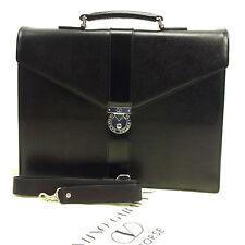 Valentino Garavani Business bag Black Silver Mens Authentic Used T313