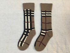 NEW Burberry chunky warm cashmere socks hand made classic check intarsia