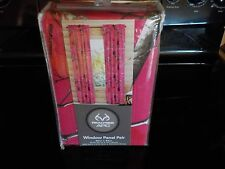 NEW REAL TREE APC HOT PINK CAMO WINDOW PANEL PAIR 80 IN. X 84 IN.