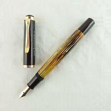 Pelikan Kolbenfüller 400 Schildpatt braun gestreift mit 585 Goldfeder EF