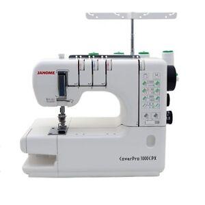Janome CoverPro 1000CPX Coverstitch Serger Machine with Bonus Bundle