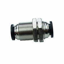 "3/8""OD  Pneumatic Push In Air Fitting Bulkhead Union Connector Air Hose Tube"