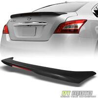 For 2009-2014 Maxima Factory Style Trunk ABS Spoiler LED Brake Light Matt Black