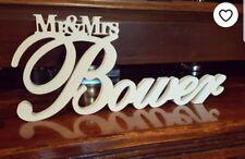 Personalised Mr & Mrs, Mr & Mr Mrs & Mrs Dr & Mrs Name Wedding Freestanding Sign