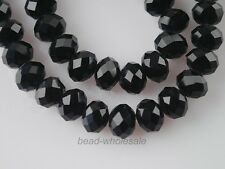 Lot 70Pcs Faceted Crystal Glass Loose Beads Rondelles Jewelry Findings 8mm