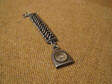 ███►sehr alter Taschenuhranhänger mit Kompaß/800er Silber um 1860