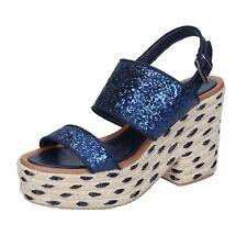 scarpe donna SARA LOPEZ 37 EU sandali blu glitter BS147-37
