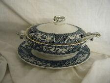 C4 Pottery Gordon B. Bros Blue Tureen 24x16x10cm 4B1A