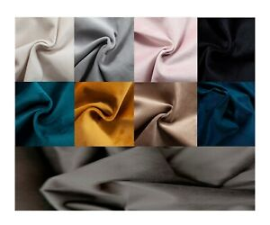 PLUSH PLAIN VELVET - Upholstery & Curtain Fabric and Nail/Hoop Back Buttons