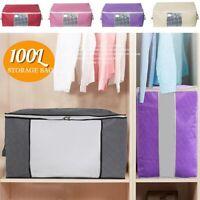 Foldable Storage Bag Clothes Bedding Blanket Organizer Holder Case with Handle