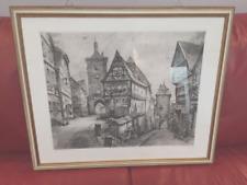 Rothenburg o.d.Tauber original Radierung W.Fauster