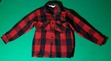 New listing Vintage 1970? LL Bean Red & Black Buffalo Plaid Wool Jacket Hunting Coat Size M