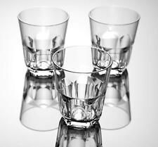 QG 15 oz Clear Acrylic Plastic Rocks Glass Cup Hexagonal Base Tumbler Set of 6