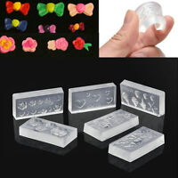 6pcs Silicone Fashion Durable 3D Acrylic Mold for Nail Art DIY Decoration Design