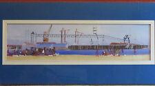 Original Painting By James Beaudoin, Long Beach California 1980s Custom Framed