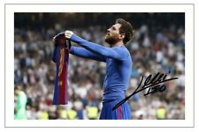 LIONEL MESSI BARCELONA AUTOGRAPH SIGNED PHOTO PRINT SOCCER