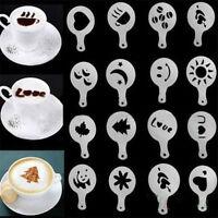 16Pcs Coffee Latte Art Stencils DIY Decorating Cake Cappuccino Foam Tools Cake